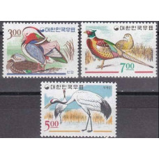 1966 Korea, South Mi.520-522 Korean birds 12,00 €
