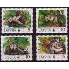 1994 Latvia Mi.378-381 WWF 2,50 €