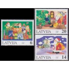 1996 Latvia Mi.444-446 Christmas 1,80