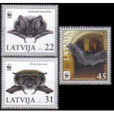 2008 Latvia Mi.727-729 Fauna