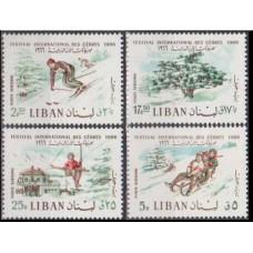 1966 Lebanon Mi.954-957 Sport 2,00 €