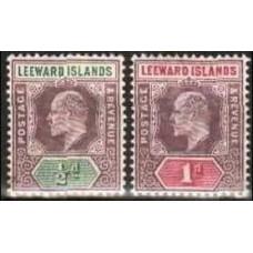 1902 Leeward Isiands Mi.20-21** Edward VII 8.00 €