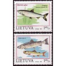 1998 Lithuania Mi.671-672 Sea fauna 1,80 €