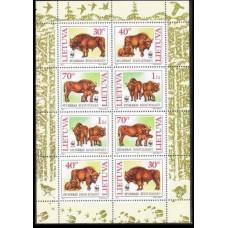 1996 Lithuania Mi.599-602KL WWF 4,00 €