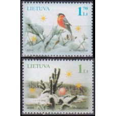 2004 Lithuania Mi.861-862 Christmas and new year 2,50 €