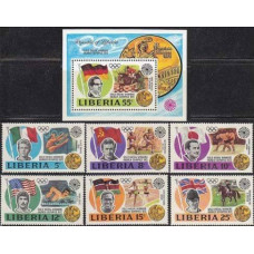 1973 Liberia Mi.855-860+861/B64 1972 Olympiad Munhen 8,20 €
