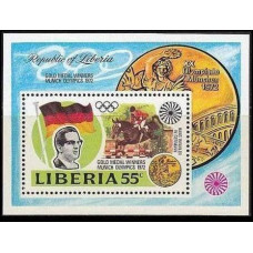 1973 Liberia Mi.861/B64 1972 Olympiad Munhen 4,40 €