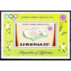 1972 Liberia Mi.832/B60 1972 Olympiad Munhen 5,50 €