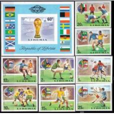 1974 Liberia Mi.921-928b+929/B72b 1974 World championship on football of Munich 80,00 €