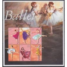 2001 Liberia Mi.3579-3584KL Ballet 12,00