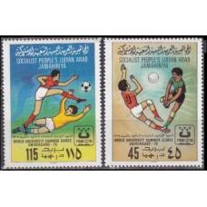 1979 Libya Mi.752-753 Football 1,70 €