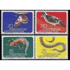 1974 Liechtenstein Mi.609-12 Reptiles 3,00 €