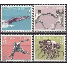 1958 Liechtenstein Michel 365-68 Sport 30.00 €
