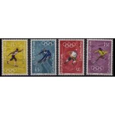 1971 Liechtenstein Mi.551-54 1972 Olympiad Sapporo 3,50 €
