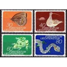 1973 Liechtenstein Mi.591-94 Fauna 2,50 €
