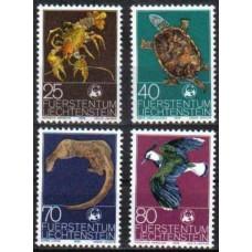 1976 Liechtenstein Mi.644-47 Fauna 3,20 €
