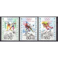 1991 Liechtenstein Mi.1030-32 1992 Olympiad Albertvele