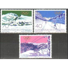 1979 Liechtenstein Michel 735-37 1980 Olympiad Lake Placid 3.00 €