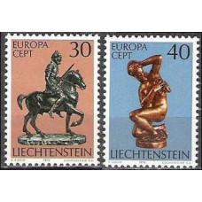 1974 Liechtenstein Mi.600-601 Europa 0,90