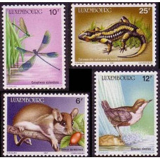 1987 Luxembourg Mi.1168-1171 Fauna 7.50 €