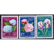 1959 Luxembourg Mi.606-608 Flowers 1,80 €