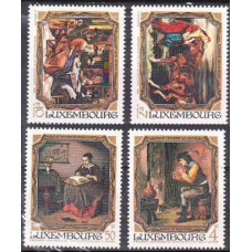 1984 Luxembourg Mi.1100-1103 Paintings 8,00 €