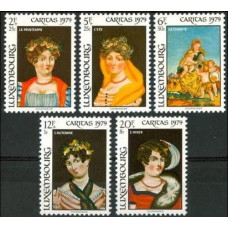 1979 Luxembourg Mi.998-1002 Paintings 3,80 €