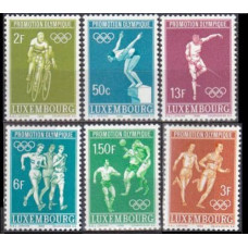 1968 Luxembourg Mi.765-770 1968 Olympic Mexico 2,00 €