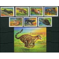1994 Madagascar Mi.1701-07+1708/B261 Fauna 9,80 €