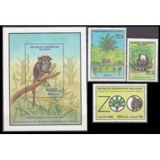 1988 Madagascar Mi.1129-1131+1132/B77 Fauna 8,40