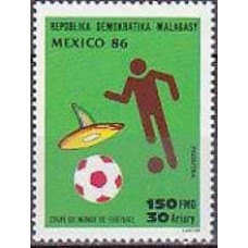 1986 Malagasy Michel 1026 1986 World championship on football of Mexico 1.40 €