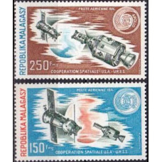 1974 Malagasy Mi.719-720 Apollo-Soyuz Test Project 4,60 €