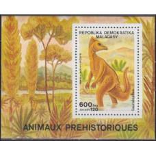 1989 Malagasy Mi.01176/B102 Dinosaurs 4,80