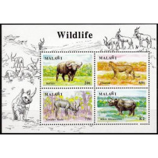 1991 Malawi Mi.565-568/B74 Fauna 19.00 €