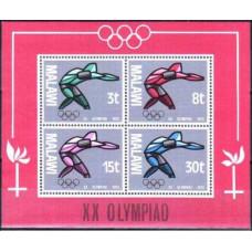 1972 Malawi Michel 186-189/B28 1972 Olympiad Munhen 3.20 €