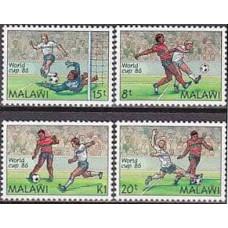 1986 Malawi Michel 465-468 1986 World championship on football of Mexico 10.00 €