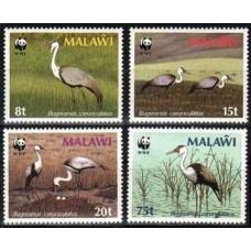 1987 Malawi Mi.477X-480X WWF, Wattled Crane Wz-5 19,00 €