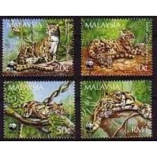 1995 Malaysia Mi.557-560 WWF / Cats 4.60 €