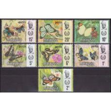 1971 Malaysia-Perlis Mi.47-53 I Butterflies 9,50 €