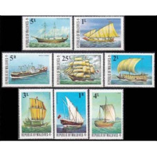 1975 Maldive Islands Mi.595-602 Ships with sails 8,50 €