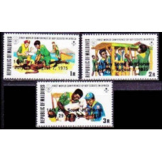 1975 Maldive Islands Mi.586-588 overprint - 4,60 €