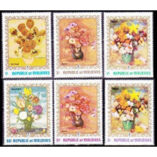 1973 Maldive Islands Mi.434-439 Flowers 5,00 €