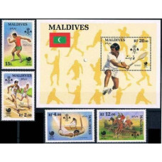 1988 Maldive Islands Mi.1307-1310+1311/B144 1988 Olympiad Seoul 13,50