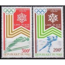 1980 Mali Mi.749-750 1980 Olympic Lake Placid 3,00