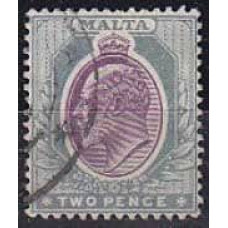 1903 Malta Mi.19used w-2 Edward VII 8.50 €