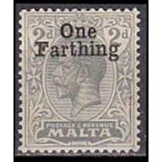 1922 Malta 81** George V overprint 2,00 €