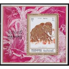 1971 Manama Mi.689/B135 Dinosaurs 8,00 €