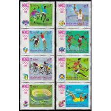 1968 Manama Mi.77-84strip 1968 Olympic Mexico 10,00 €