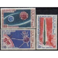 1966 Mauritania Michel 266-268 Rockets 4.40 €