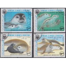 1986 Mauritania Mi.871-874used Sea fauna 5,00